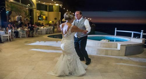 Beautiful Vallarta Weddings Brooke and Dad dancing